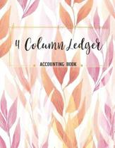 4 Column Ledger Accounting Book
