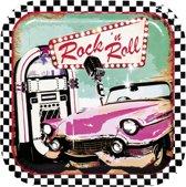 Set 6 Bordjes Rockk n Roll (23 cm)