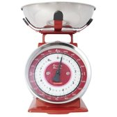 Typhoon Retro Tafelblad Mechanical kitchen scale Rood