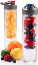 Benson Waterfles Fruit filter - Blauw - 850 ml