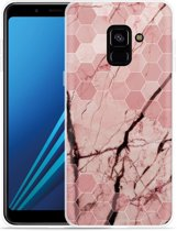 Samsung Galaxy A8 2018 Hoesje Pink Marble