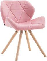 Clp TYLER - Eetkamerstoel - Rond - Kunstleer - roze natura