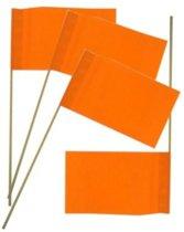 PartyXplosion - Zwaaivlaggetjes - Oranje - 50st.