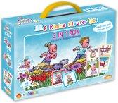 2 Kleine Kleutertjes - 3-in-1 Box (Puzzel+Memo+Domino)