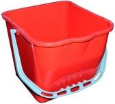 Kunststof emmer rood 17 liter