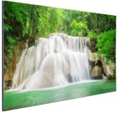 Huaymaekamin waterval Aluminium 180x120 cm - Foto print op Aluminium (metaal wanddecoratie) XXL / Groot formaat!