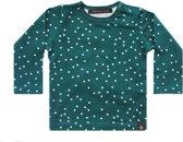 Your Wishes Unisex T-shirt Squares - teal - groen - Maat 86/92