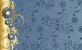 Goud | Blue Photomural, wallcovering