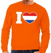Oranje I love Holland sweater volwassenen L