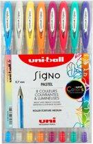 8 stuks Uni-ball Signo gelpennen 0.7 mm Pastel kleuren