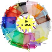 Fako Bijoux® - Organza Zakjes - 7x9cm - Mix - 20 Stuks