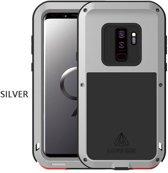 Metalen hoes voor Samsung Galaxy S9, Love Mei, metalen extreme protection case, zwart-grijs