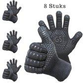 8 BBQ handschoenen  (gemaakt van Aramide en Kevlar) tot 500 graden Celsius (EN407)