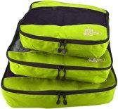 Packing Cubes Set (3x) - Koffer Organiser Voor Backpack & Koffer - Travel - Groen