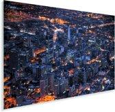 De hoofdstad van het Colombiaanse Bogota in de nacht Plexiglas 90x60 cm - Foto print op Glas (Plexiglas wanddecoratie)