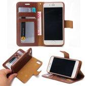 Leren Wallet case - iPhone 7/8 - Magnetisch uitneembaar - Bruin - Crazy Horse