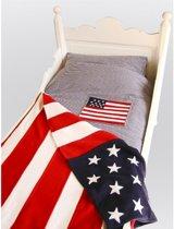Taftan Sprei Amerikaanse Vlag 170 x 230 cm