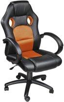 Tectake - Luxe design bureaustoel racing style oranje/zwart