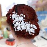 Hairpin - Elegance Flowers Strass & Pearls - 5 Stuks