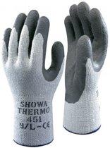 Showa 451 Thermo Grip Grijze Palm Werkhandschoenen   - Maat M - Thermo Verwarmde Handschoenen