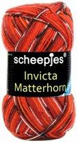 Scheepjes Invicta Matterhorn 3 - Gem. ROOD. [ SOKKENWOL ] PAK MET 5 BOLLEN a 100 GRAM. KL.NUM. 10703.