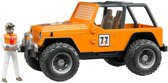 Bruder Jeep Cross Country oranje met chauffeur