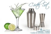 8 delige cocktail set