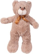 Maxx Teddybeer - Knuffelbeer - 54 cm - Lichtbruin - Zacht pluche