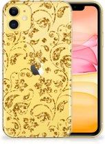 iPhone 11 TPU Case Gouden Bloemen
