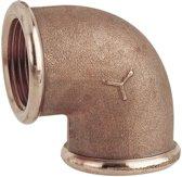 Pijp elleboog 90º (female/female) in brons 2 1/2 draad (GS30657)