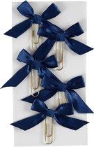 Creotime Paperclips Met Strik Blauw 40 X 70 Mm 5 Stuks