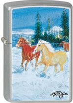 Aansteker Zippo Linda Picken Horses in the Snow