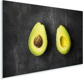 Avocado helften op een tafel Plexiglas 60x40 cm - Foto print op Glas (Plexiglas wanddecoratie)