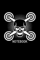 Notebook: 6x9 Whoop - blank with numbers paper - notebook - notes