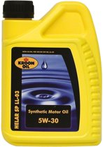 1 L flacon Kroon-Oil Motorolie Synthetisch Helar Sp Ll-03 5w-30