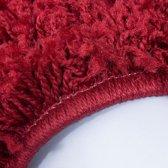 Hoogpolig shaggy vloerkleed 200x290cm rood