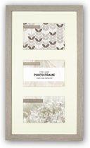 Collagelijst Grijs met Passepartout - fotomaat 13x18