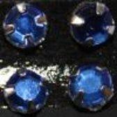 Gutermann Buisje opnaaiparels  [ strass ]  7 mm. 10 stuks blauw 6655