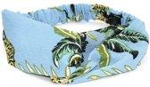Haarband met twist tropical print