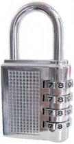Stahlex - Hangslot - Cijferslot - 80 mm zilver