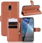 Nokia 2.2 Hoesje - Book Case - Bruin