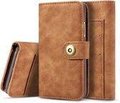 Mobigear Retro Detachable Magnetic Wallet Hoesje Bruin Apple iPhone 11 Pro
