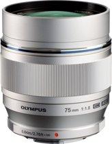 Olympus M.ZUIKO Digital - Lens - ED 75 mm 1.1.8 - Zilver
