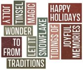 Sizzix Thinlits 16 pcs by Tim Holtz, Holiday Words : Block