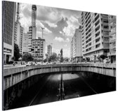 FotoCadeau.nl - Sao Paulo zwart-wit Aluminium 30x20 cm - Foto print op Aluminium (metaal wanddecoratie)