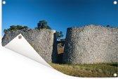 Ruïnes van het Afrikaanse Groot-Zimbabwe Tuinposter 180x120 cm - Tuindoek / Buitencanvas / Schilderijen voor buiten (tuin decoratie) XXL / Groot formaat!