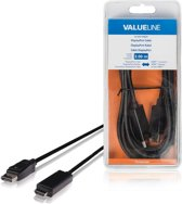 Valueline 3m DisplayPort - HDMI m/m 3m DisplayPort HDMI Zwart