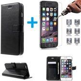Cyclone Pack Box iPhone 6 6S Book PU lederen Portemonnee hoesje Book case met Tempered Glas Screen protector