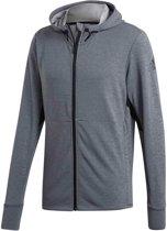 Heren Vest Workout Full Zip ClimaCool Hoodie Grey
