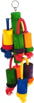 Happy Pet Playtime Multiwood 3 - Vogelspeelgoed - 45 x 12 x 12 cm